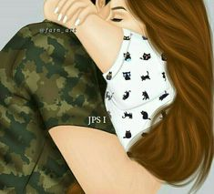Cute Couple Drawings, Cute Couple Art, Girly Drawings, Anime Love Couple, Love Drawings, Cute Couples, Army Couple Pictures, Princesse Disney Swag, Sarra Art