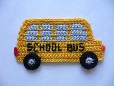 CROCHET SCHOOL BUS