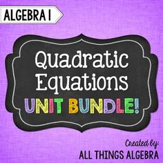 reviewer for tests about quadratic equations