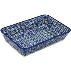 Ceramika Bona H0500H Polish Pottery Ceramic Rectangular Baker Hand Painted 10Inch *** Check out the image by visiting the link.