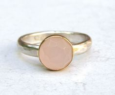 Engagement ring, Stacking ring, gemstone Rose quartz silver ring -Fine jewelry Birthstone gold ring Back to school ring Size 6 on Etsy, $97.84 AUD