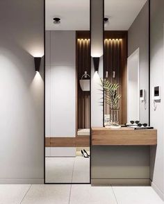 The invisible door can form the effect of amplifying the space, and at the same time make the home more visually sturdy, simple and exquisite and elegant, in line with the aesthetic needs of modern people. – Page 5 of 20 – home acssesories Entrance Hall Decor, House Entrance, Entryway Decor, Bedroom Closet Design, Bedroom Decor, Invisible Doors, Flur Design, Hall Design, Design Art