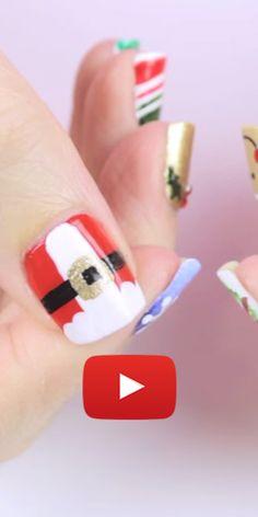 10 exemples faciles dart sur ongles pour Noël. http//rienquedugratuit