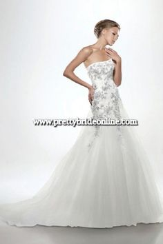 Search Used Wedding Dresses & PreOwned Wedding Gowns For Sale Daisy Wedding, Dream Wedding, Used Wedding Dresses, Wedding Gowns, One Shoulder Wedding Dress, Bridal, Pretty, Wedding Ideas, Wedding Stuff