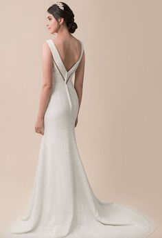 Featured Dress: Moonlight Bridal; Wedding dress idea.