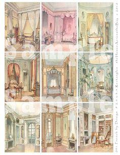 digital sheet - French castle interiors