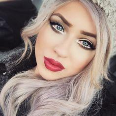 white eyeliner really makes her eyes pop