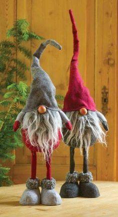 Moldes para hacer duendes navideños en fieltro paso a paso Ideas de Manualidades
