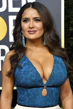 Salma Hayek Gucci Blue and White Dress - Beautiful CelebrityYou can find Salma hayek and more on our website.Salma Hayek Gucci Blue and White Dress - Beautiful Celebrity Salma Hayek Young, Salma Hayek Body, Salma Hayek Bikini, Salma Hayek Style, Sexy Older Women, Sexy Women, Charlotte Tilbury Lipstick, Salma Hayek Pictures, Blue And White Dress