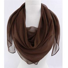 "Fabric Boutique - 774 N Pacific Hwy, Woodburn, Oregon - Brown, <p>Square silk scarf 40"" x 40""</p>"