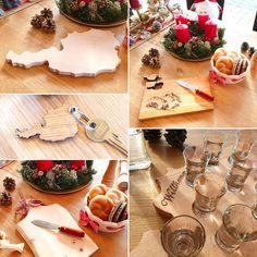 Originelle Weihnachtsgeschenke aus Holz. GRATIS Österreich-brett® Schlüsselanhänger zu jeder Bestellung! Table Settings, Carpentry, Schnapps, Boards, Timber Wood, Purchase Order, Place Settings, Tablescapes