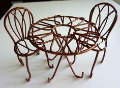 Copper Fairie Garden Mini Bistro Set | eBay