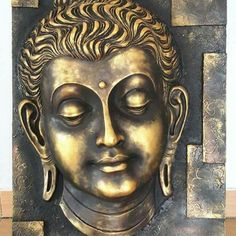 Budha Painting, Krishna Painting, Mural Painting, Clay Wall Art, Mural Wall Art, Buddha Sculpture, Sculpture Art, Baby Buddha, Bad Art