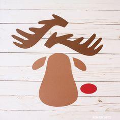Sleeping Reindeer Craft - Paper Christmas Craft For Kids , Christmas Crafts To Make, Kids Christmas, White Christmas, Craft Activities For Kids, Craft Kids, Christmas Door Decorations, Holiday Decor, Non Toy Gifts, Reindeer Craft