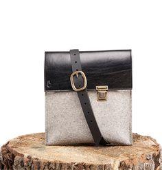 Joseph iPad - iPad Sleeve - Felt and Leather - CANTIN - Permanent Collection #fashion #montreal #handmade  #bags #ipad