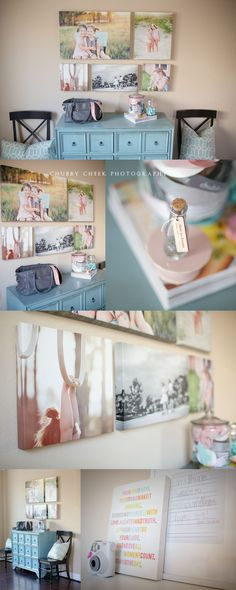 Love the way these photos are displayed. Especially love those cute hands holding the monkey bars. I wouldn't have thought that using a pic like that for a canvas would have such impact. Chubby Cheek Photography.
