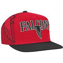 quality design 268b2 4f05c Men s Mitchell  amp  Ness Atlanta Falcons Throwback Laser Stitch Structured  Snapback Adjustable Hat - NFLShop
