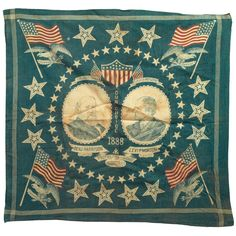 old inauguration day and benjamin harrison day ~ March 4 ~ ~ ~ photo; 1888 benjamin harrison and levi morton bandana Bandanas, Benjamin Harrison, Vintage Bandana, Singles Holidays, Bandana Design, Textiles, Neckerchiefs, Vintage Outfits, Vintage Clothing