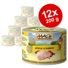 Animalerie  Lot MACs 12 x 200 g pour chat  canard dinde poulet