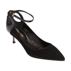Sergio Rossi Ankle Strap Pump, 2in / 50mm heel