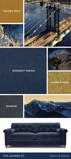 Colour Combinations Navy 038 Gold Colour Combinations Navy 038 Gold Mario Gamm Farben Colour Combinations Navy 038 Gold For a stylish nbsp hellip Living Room Decor Colors, Living Room Color Schemes, Blue Color Schemes, Room Colors, Paint Colors, Bedroom Decor, Blue And Gold Living Room, Navy Blue Living Room, Blue Rooms