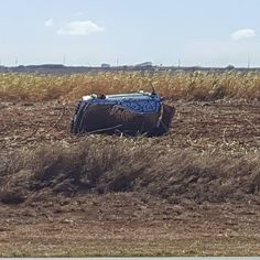 Caption this!  #protecautocare #engineflush #carrepair #dodge #chevy #ford #american #car #crash #field #rollover #rolled #wrecked #crashed #nofilter #followus