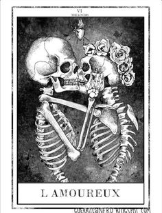 tarot, the lovers (les amoureux) till death do us part and maybe beyond. More