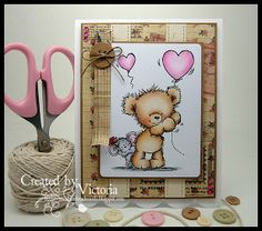 Vixx Handmade Cards: WILD ROSE STUDIO DT POST ~ TEDDY AND MOUSE...