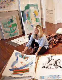 Charleston is the home of Baylor grad Sally King Benedict's studio--love her work