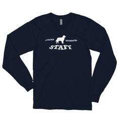 A long sleeve shirt for Golden Retriever dog dad and lover from our clothing collection Staff. Dogs Golden Retriever, Retriever Dog, Dog Wear, American Apparel, Long Sleeve Shirts, Unisex, Clothing, Sleeves, Mens Tops