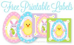Free Printable Easter Treats Recipe and Labels