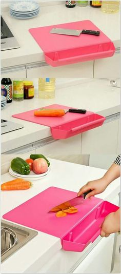 Creative Cutting Board with Detachable Storage Box. Creative Cutting Board with Detachable Storage Box. Creative Cutting Board with Detachable Storage Box. Cool Kitchen Gadgets, Home Gadgets, Cooking Gadgets, Kitchen Hacks, Cool Kitchens, Latest Gadgets, Electronics Gadgets, Cooking Tools, Cooking Icon