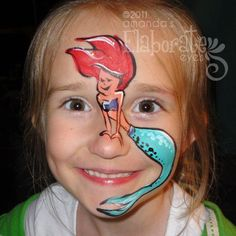 DIY Ariel Face Paint #DIY #Disney #LittleMermaid #FacePainting #Birthdays #Birthday #Parties #Party