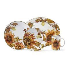 Botanical Sunflower Dinnerware Collection #williamssonoma