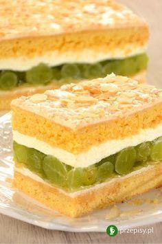 Migdałowiec z winogronami Polish Recipes, Polish Food, Food Design, Sandwiches, Sweet Treats, Baking, Good Food, Thermomix, Sweets