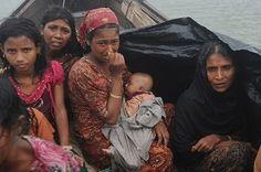 Rohingya refugees fleeing violence (Burma)