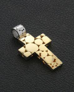 Χειροποίητος Σταυρός Χρυσός Κ18 Cross Jewelry, Gold Jewelry, Jewlery, Christian Symbols, Celtic Designs, Other Accessories, Artisan Jewelry, Cufflinks, Jewelry Design