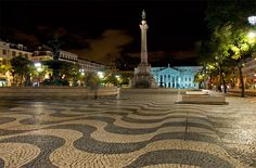Rossio at 4 A.M. through the eyes of AiresSantos -Lisbon, Portugal