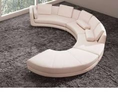 curved modern couch - Google Search