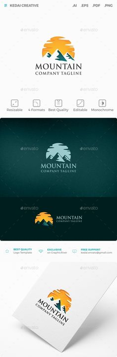 Mountain — Vector EPS #production #cloud • Available here → https://graphicriver.net/item/mountain/9958029?ref=pxcr