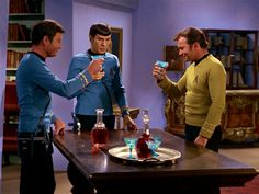 Dr. McCoy, Mr. Spock, and Captain Kirk