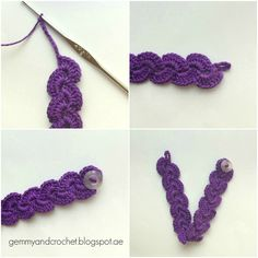 Crochet: Free pattern for this scallop bracelet