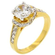 14K Gold Bonded Ckear CZ Engagement Ring  Order at http://www.amazon.com/Gold-Bonded-Ckear-Engagement-Ring/dp/B003ZX16KW/ref=zg_bs_3890311_70?tag=bestmacros-20