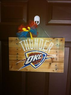 THUNDER door hanger from Acrylics Plus!!!