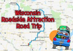 Giant fiberglass animals and the World's Largest Ball of Twine are the highlights of this silly and fun Wisconsin road trip. Wisconsin Vacation, Vacation Trips, Day Trips, Vacation Ideas, Vacation Places, Vacations, Road Trip Packing, Road Trip Usa, Road Trip Adventure