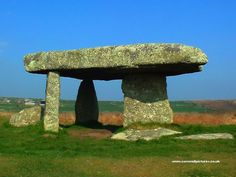 Lanyon Quoit, one of Cornwall's most ancient and well-known stone monuments from the Neolithic period. Its purpose is unclear but it was likely a sort of burial chamber or used in rituals to communicate with ancestors. Originally 7ft high it collapsed during a storm in the 18th century caused significant damage to its stone supports. Since then it has been reconstructed but with only three of the four original columns. It lies between Madron and Morvah on the Penwith peninsula north of…