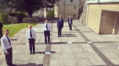 This afternoon Year 7 turned the block paving outside the maths department into a set of axis. They were then able to use themselves as coordinates in order to plot straight line graphs #MathsIsFun