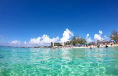 Crystal clear water. 🏖  #caymanislands #georgetown #7milesbeach #10km #sandybeach #crystalclear #instatravel #gopro #goprohero7 #goprohero7black #potd #travelgram #sevenmilebeach #westbay #mscseaside #beach Crystal Clear Water, Cayman Islands, Gopro, Seaside, Dolores Park, Clouds, Beach, Places, Travel