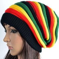 This Relaxed And Slouchy Rasta Colored Winter Beanie Hat Is Great For Women  Or Men And c6259f2cd4a