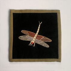 #handmade #coaster #embroidery #fabric #Authentique #Home